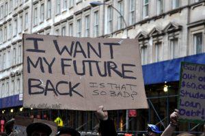 Cartas no Ocupy Wall Street: movimento se espalhou pelos EUA