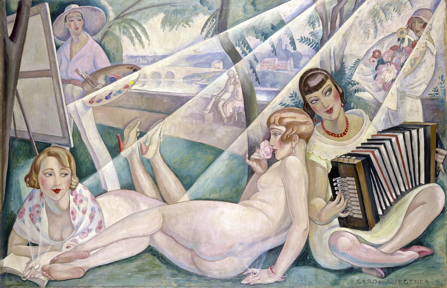 """Uma das obras na exposição """"Gerda Wegener"""", em cartaz até 16 de maio no museu Arken, em Copenhagen"""