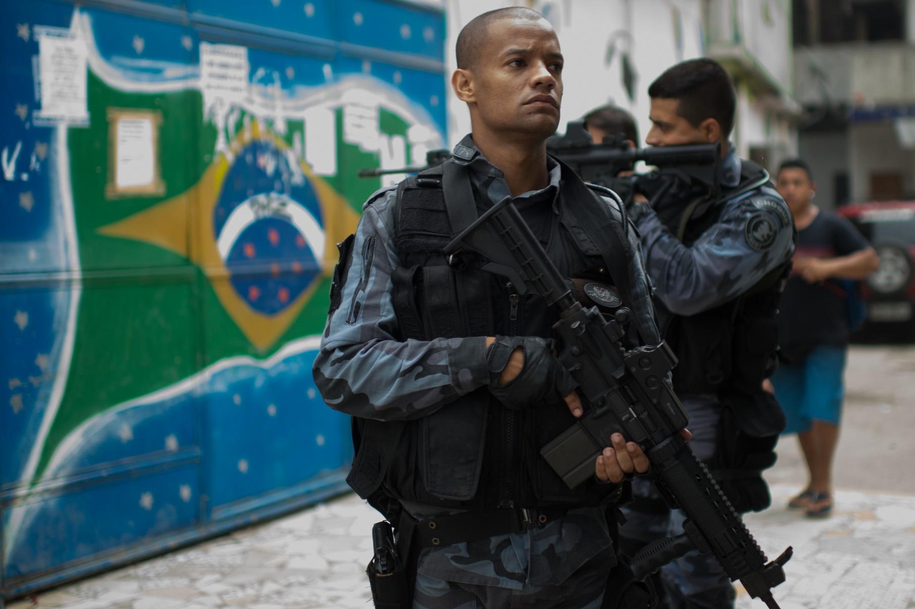 Operação policial no Complexo da Maré em Abril de 2015