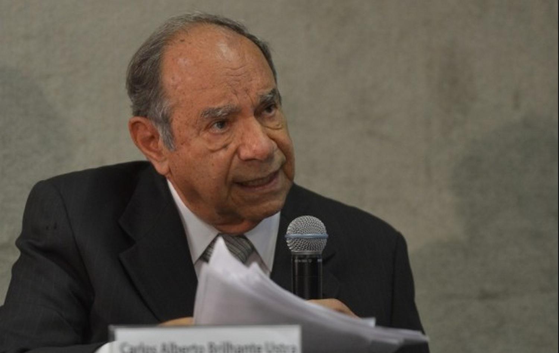 O coronel Ustra em depoimento na Comissão da Verdade, em 2013