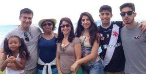 Procurador Savio Renato e a família. Dos cinco filhos, uma delas é adotada