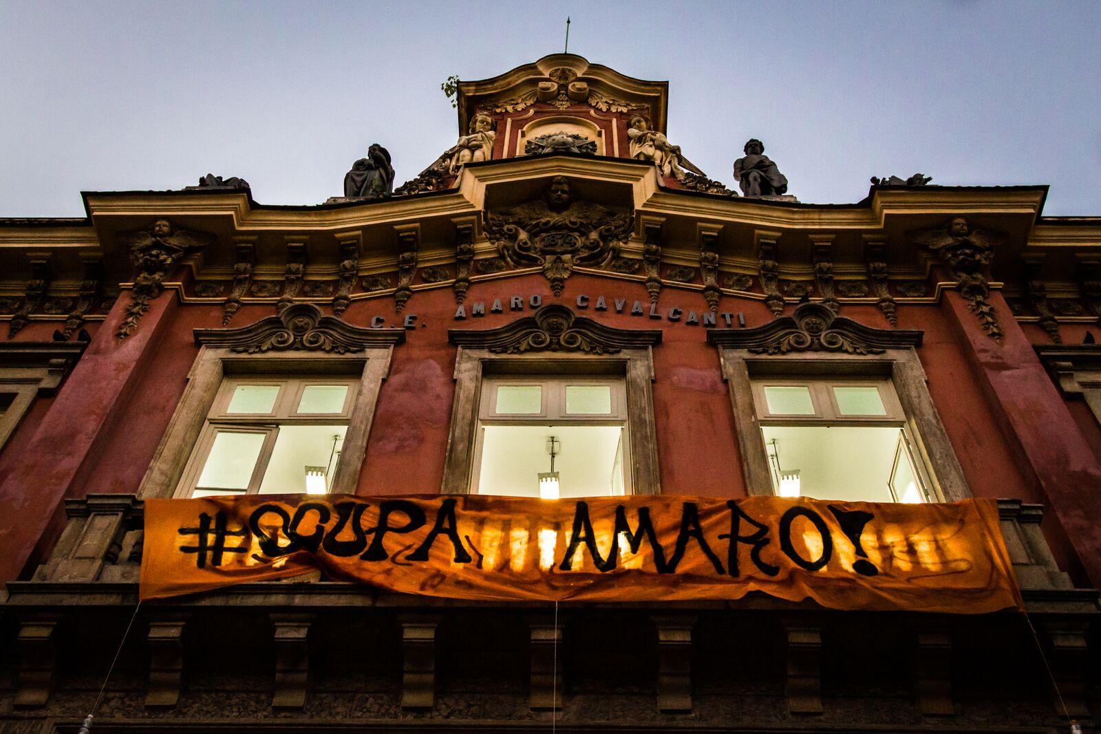 Ocupação da Escola Amaro Cavalcanti, no Largo do Machado