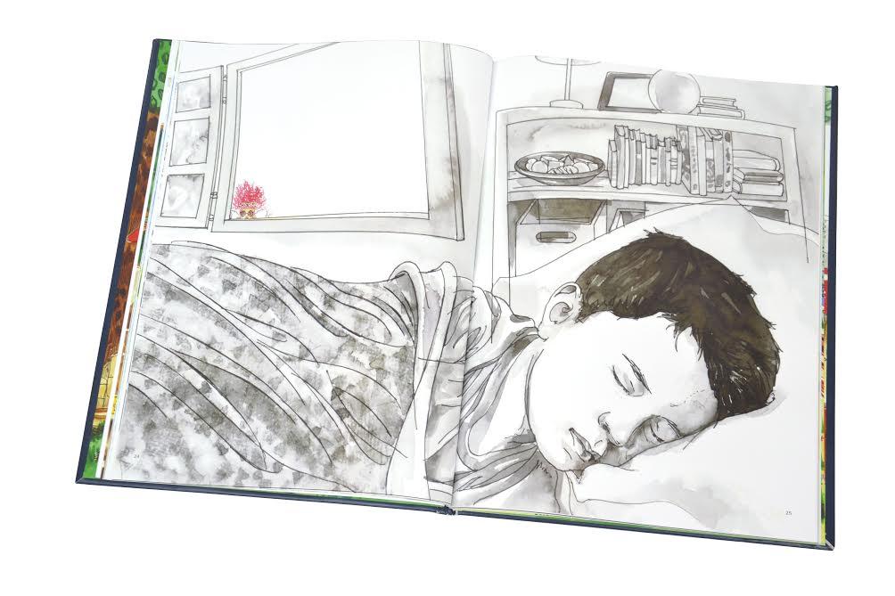 """""""A Fada de Botas e o Menino Adormecido"""", com ilustações de Maureen Miranda e Rogério Borges"""