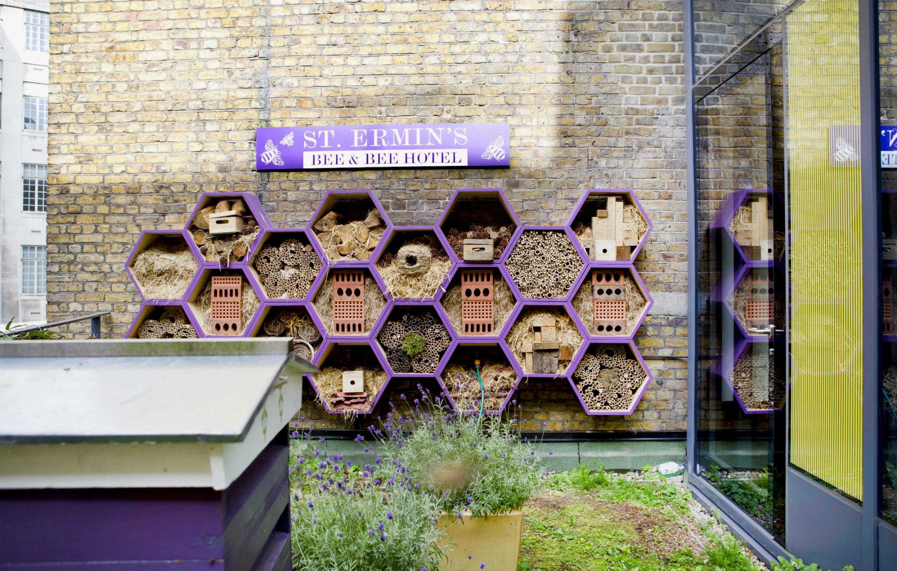 Bee and Bee hotel, um spa para abelhas no luxuoso St Ermins, em Londres