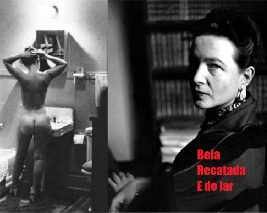 A escritora francesa Simone de Beauvoir, símbolo do feminismo