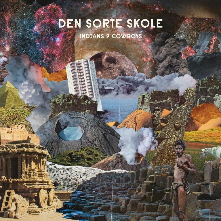 """Capa do disco """"Indians and cowboys"""", classificado pelo jornal francês """"Le Monde"""" como uma versão musical da Torre de Babel"""""""