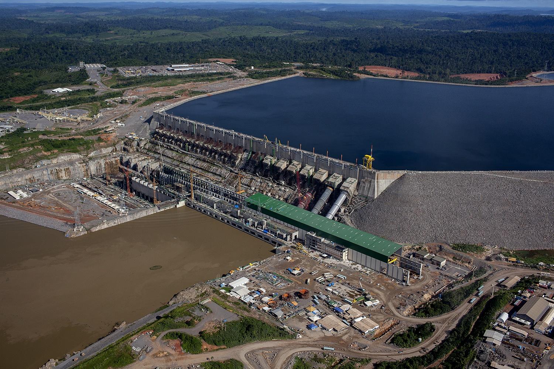 Vista aérea da Usina Hidrelétrica de Belo Monte na área onde estão colocadas 18 turbinas