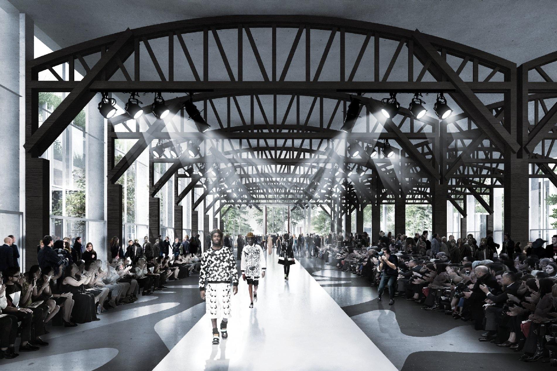 O novo projeto é grandioso: espaço para eventos, como desfiles de moda, e até piscinas públicas