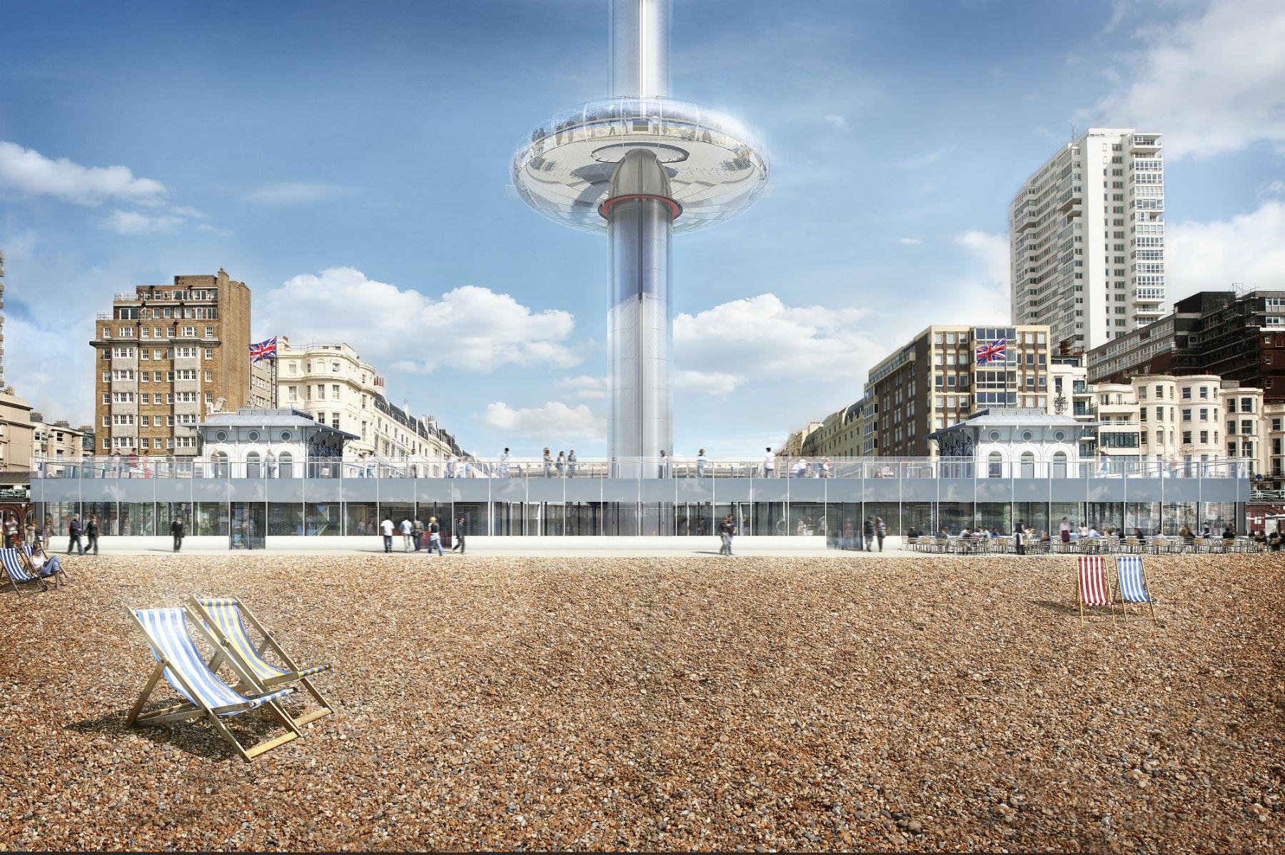 A torre vista da praia de Brighton: críticas e milhóes investidos