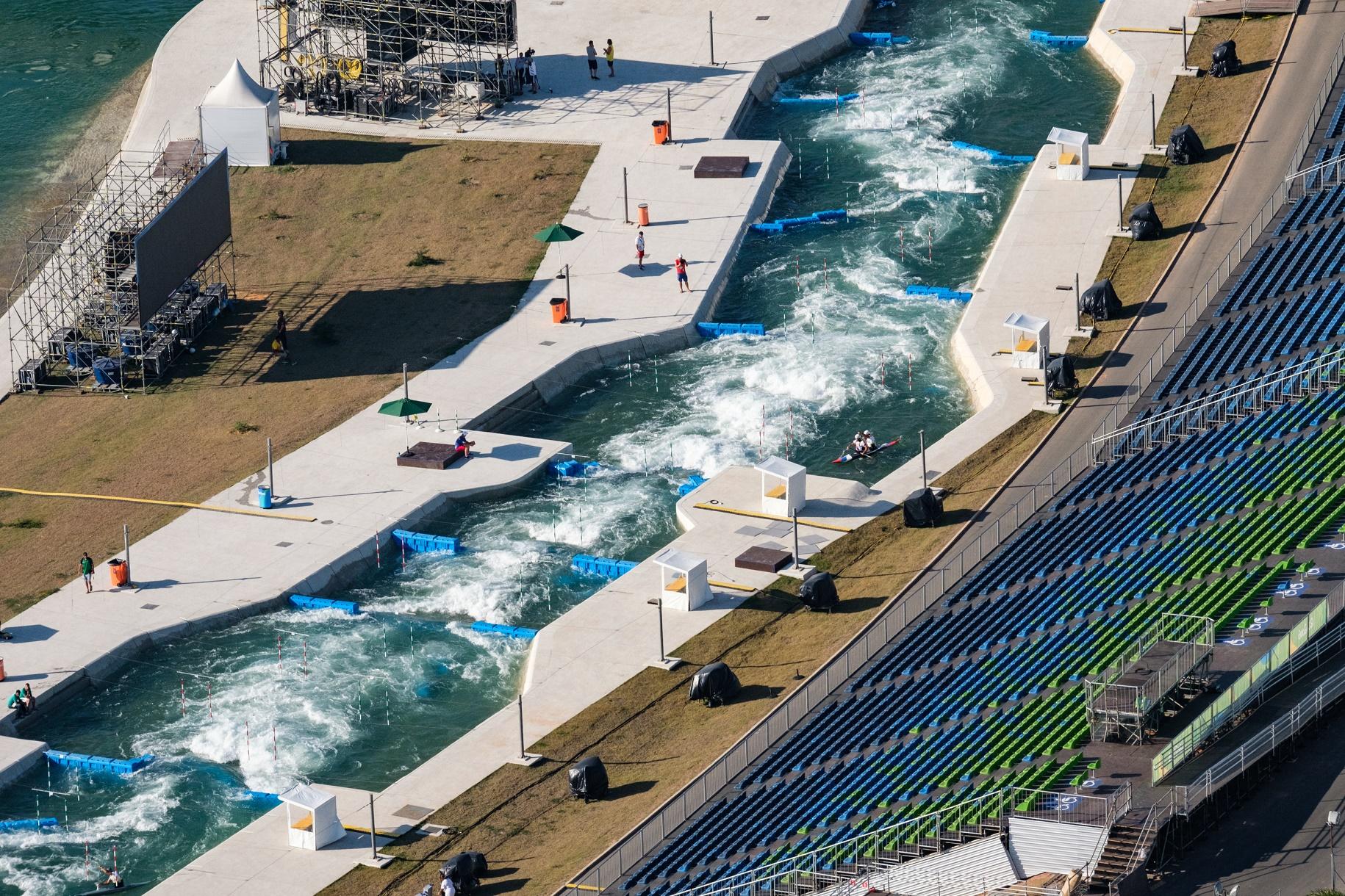 Uma das arenas de Deodoro, na Zona Oeste, onde foram disputadas as provas de slalom. Foto de Yasuyoshi Chiba/AFP