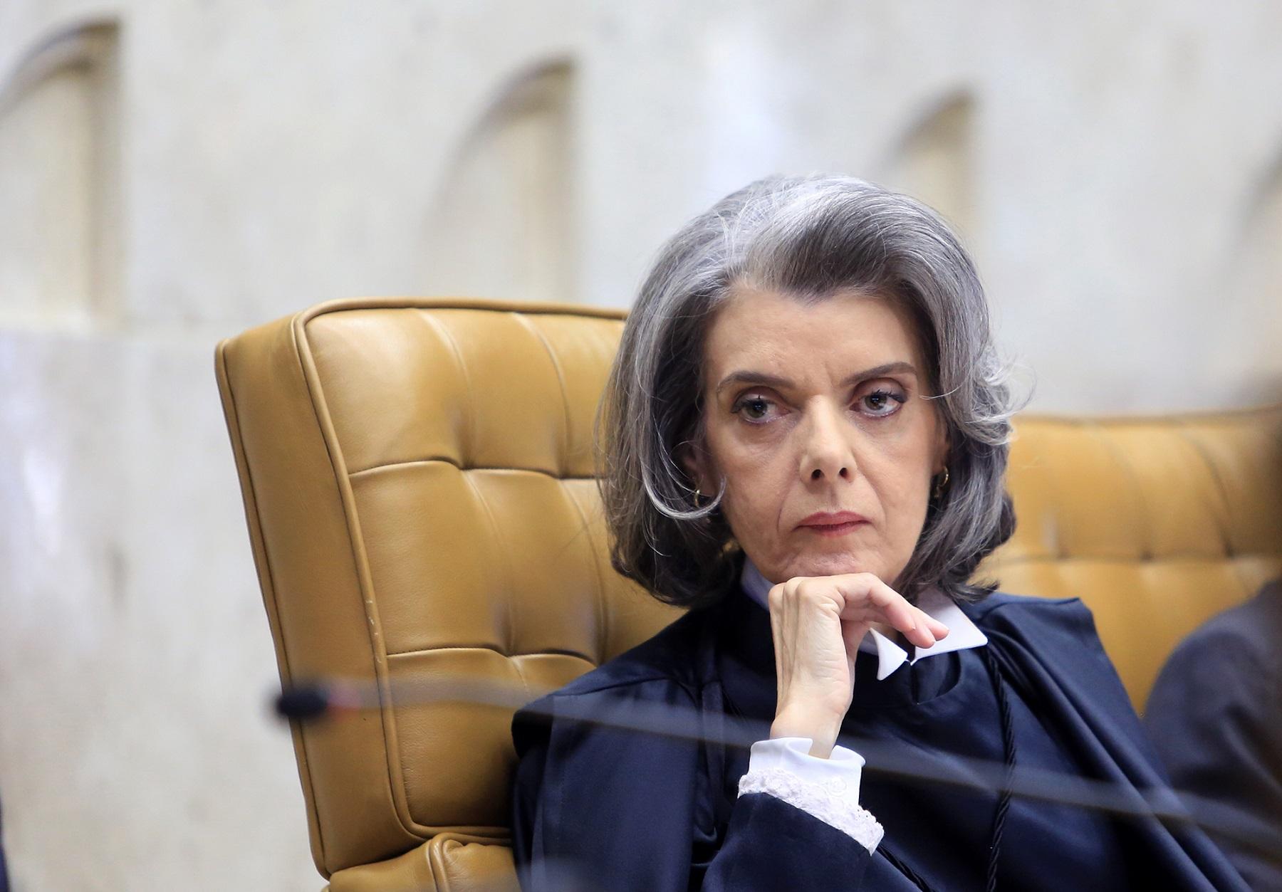 Ministra Carmem Lúcia durante a cerimônia de posse como Presidente do STF. Foto Divulgação