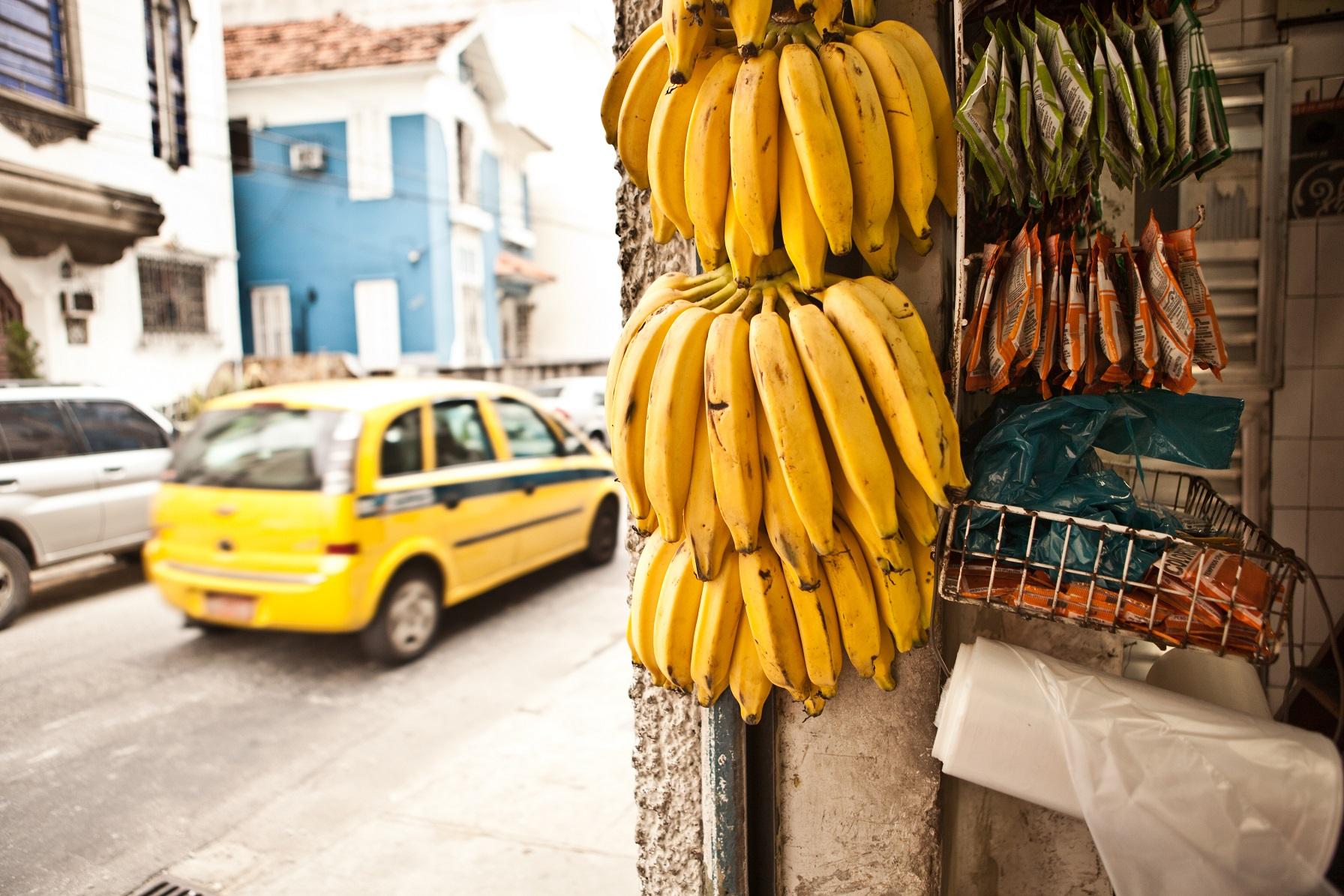 A foto com as bananas também foi ideia do pessoal do marketing. Foto JAG IMAGES / Cultura Creative