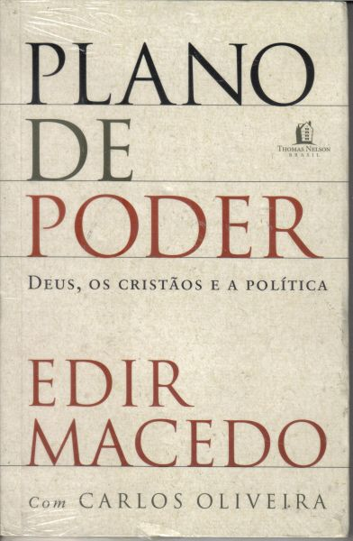 Capa do livro escrito por Edir Macedo e pelo jornalista Carlos Oliveira. Reprodução