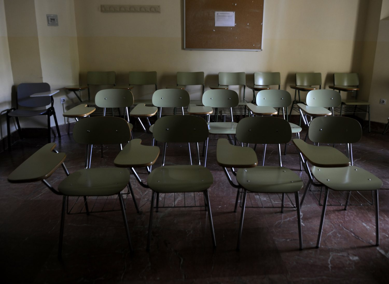 A inadimplência dos alunos leva também à evasão do centro universitário. AFP/ Cristina Quicler/Sevilha,2012