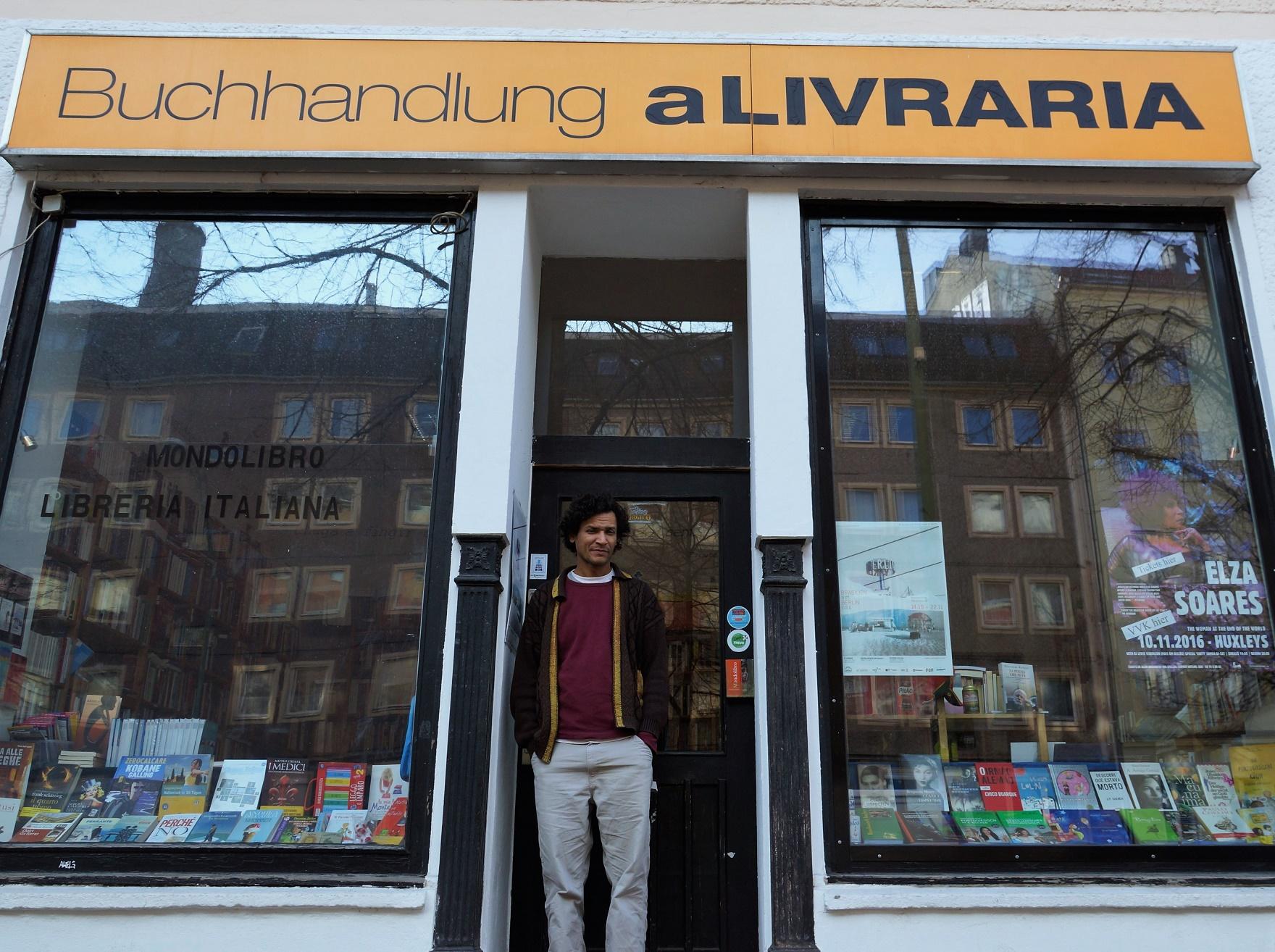 A Livraria se transformou num polo de difusão cultural e promove debates, leituras e um festival anual, o Brasilien trifft Berlin. Foto Fernando Molica