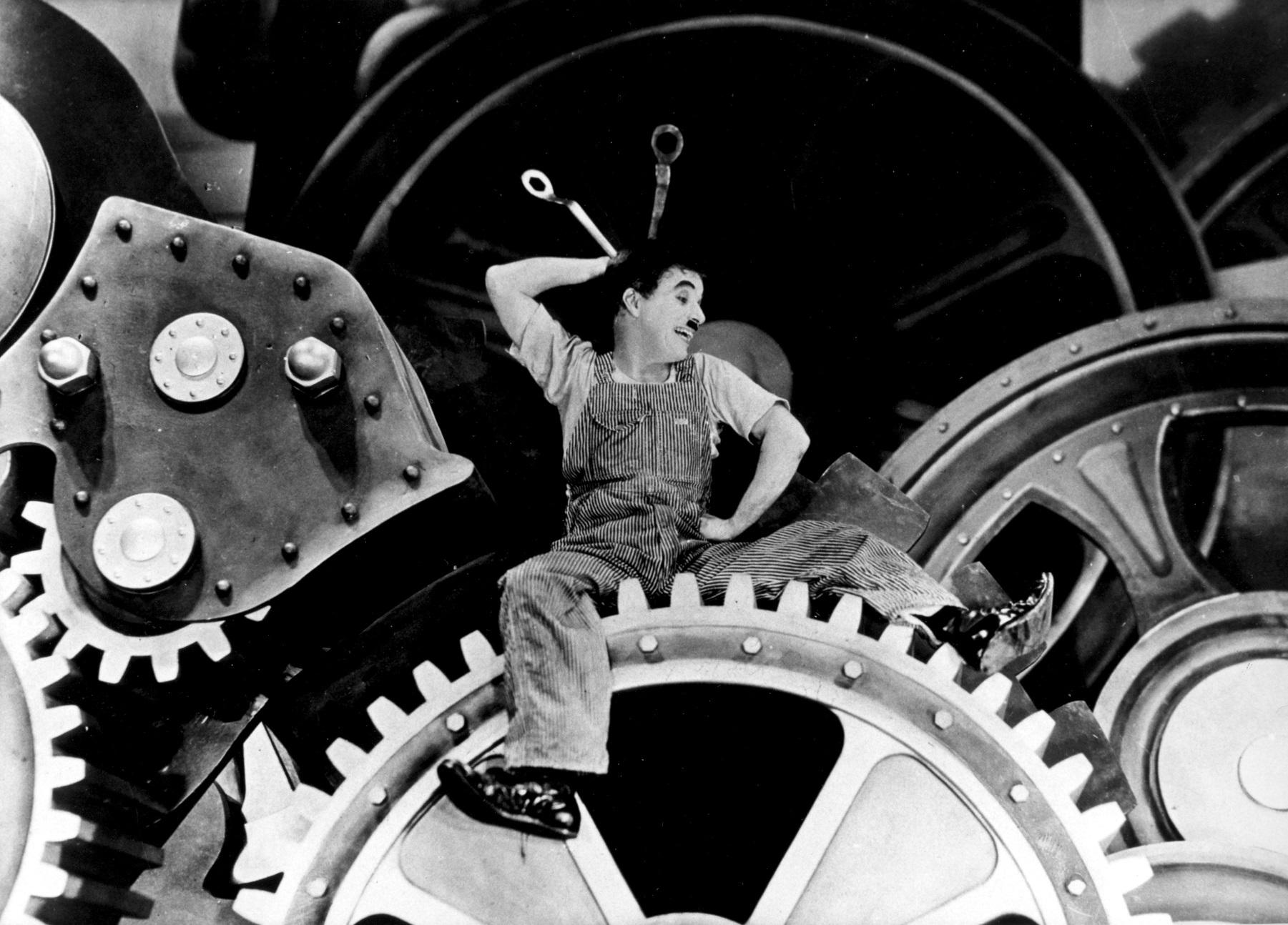 """Cena do clássico """"Tempos Modernos"""", de Charles Chaplin, feito em 1936. Foto de Divulgação"""