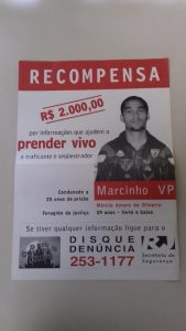 Cartaz do Disque Denuncia. Foto de Divulgacao