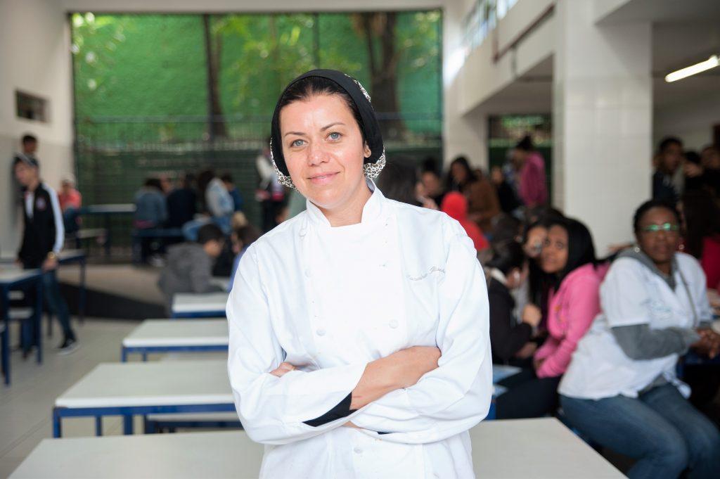 Janaina Rueda: merenda mais saudável e com apelo cultural. Foto de divulgação