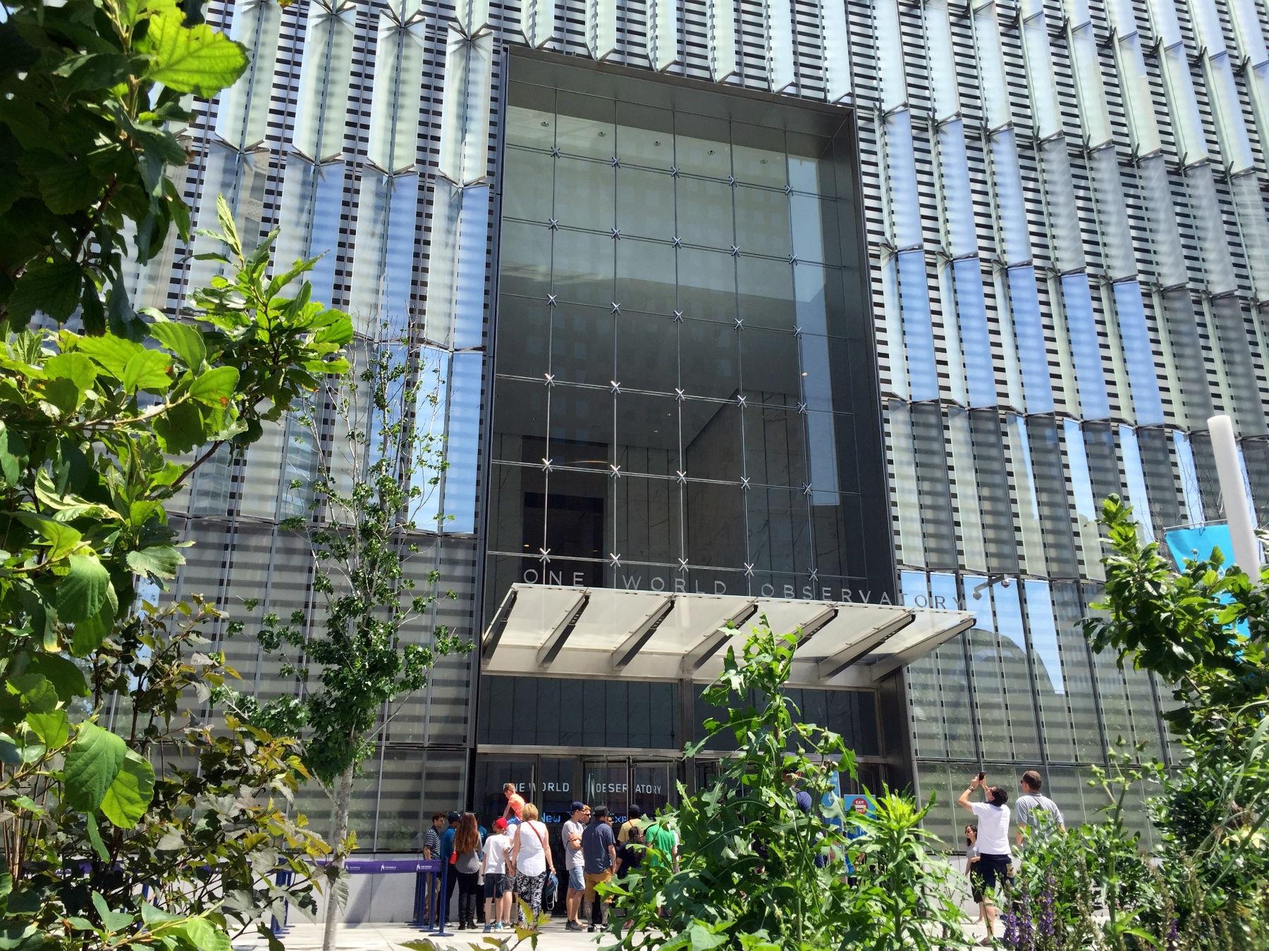 A entrada para o observatório do One World Trade Center. Foto de Carla Lencastre