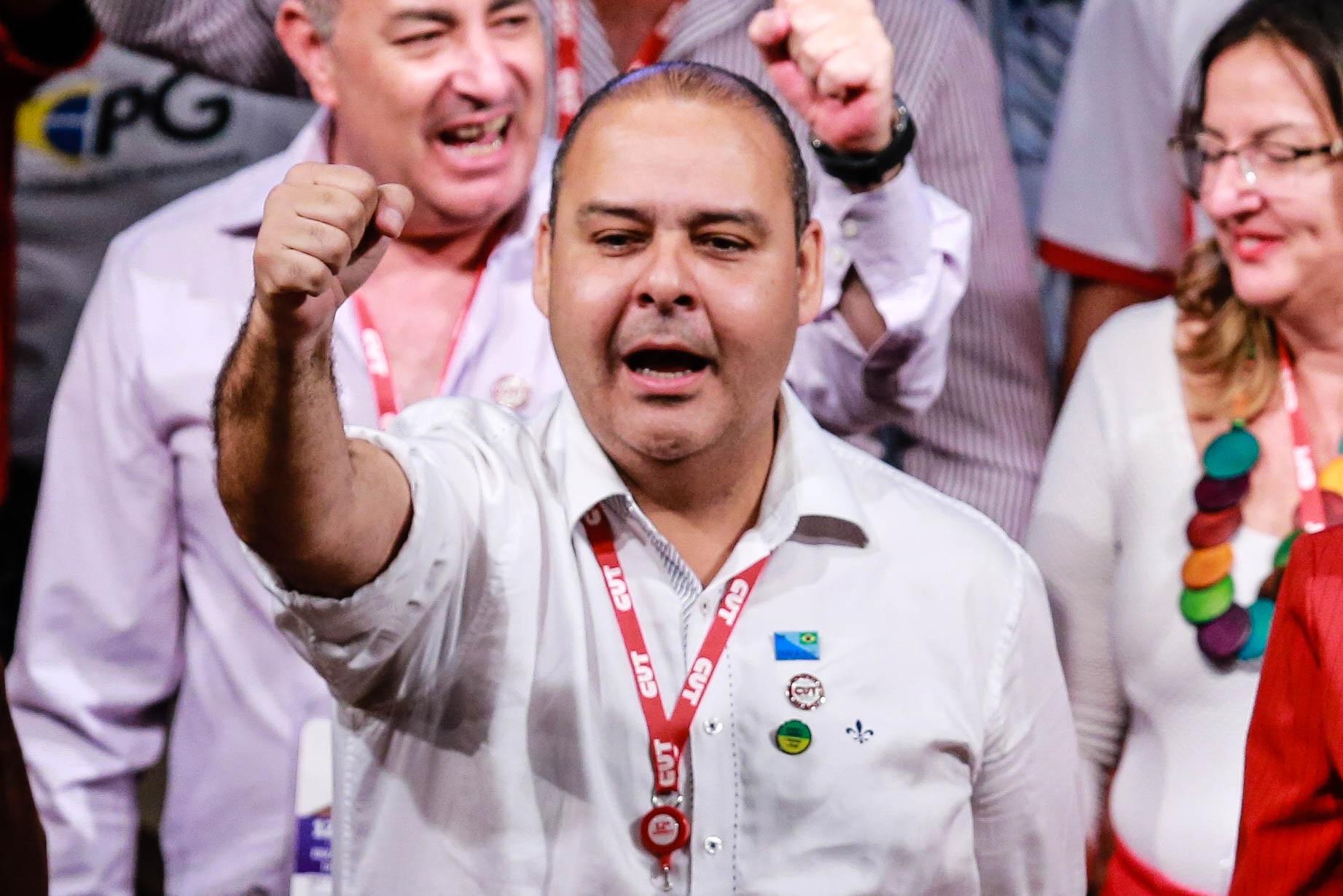"""Vagner Freitas: """"Se tem uma coisa que une trabalhadores de todo o mundo é o ataque brutal aos seus direitos"""". Foto Vanessa Carvalho/Brazil Photo Press"""