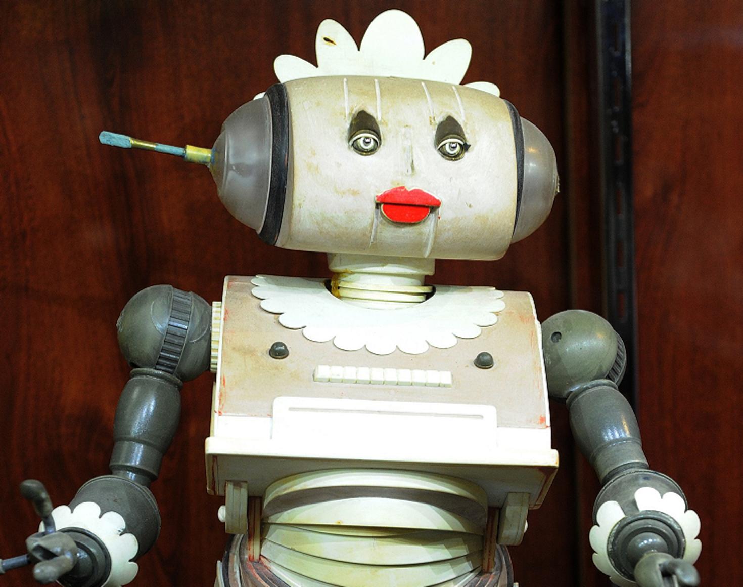 Rosie, a robô faxineira dos Jetsons, serviu de inspiração para o projeto Serenata de Amor. Foto de Mark Ralston