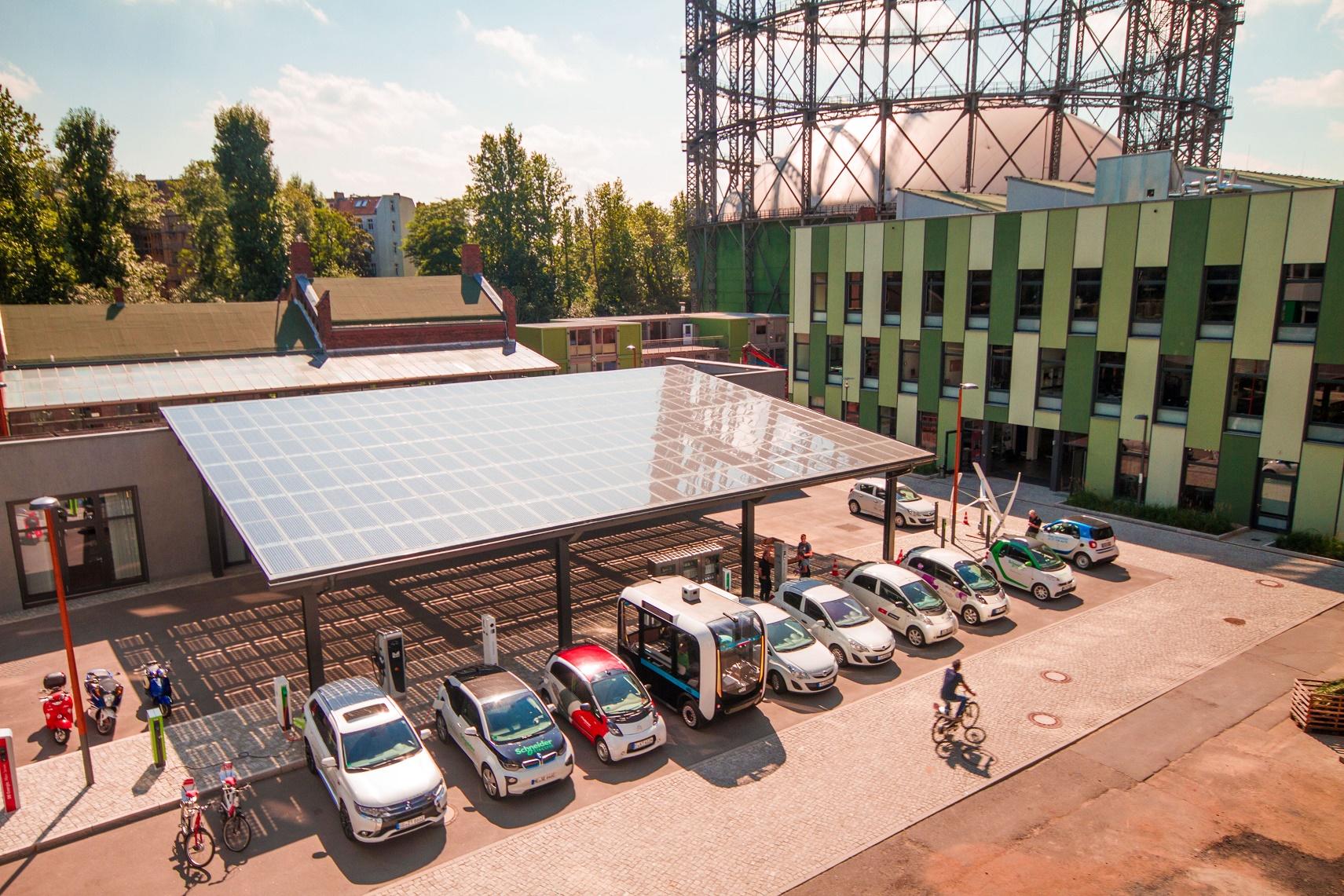 No Campus Euref, em Berlim, a meta de 80% de energia renovável já foi alcançada. Foto de Vipul Toprani/Divulgação
