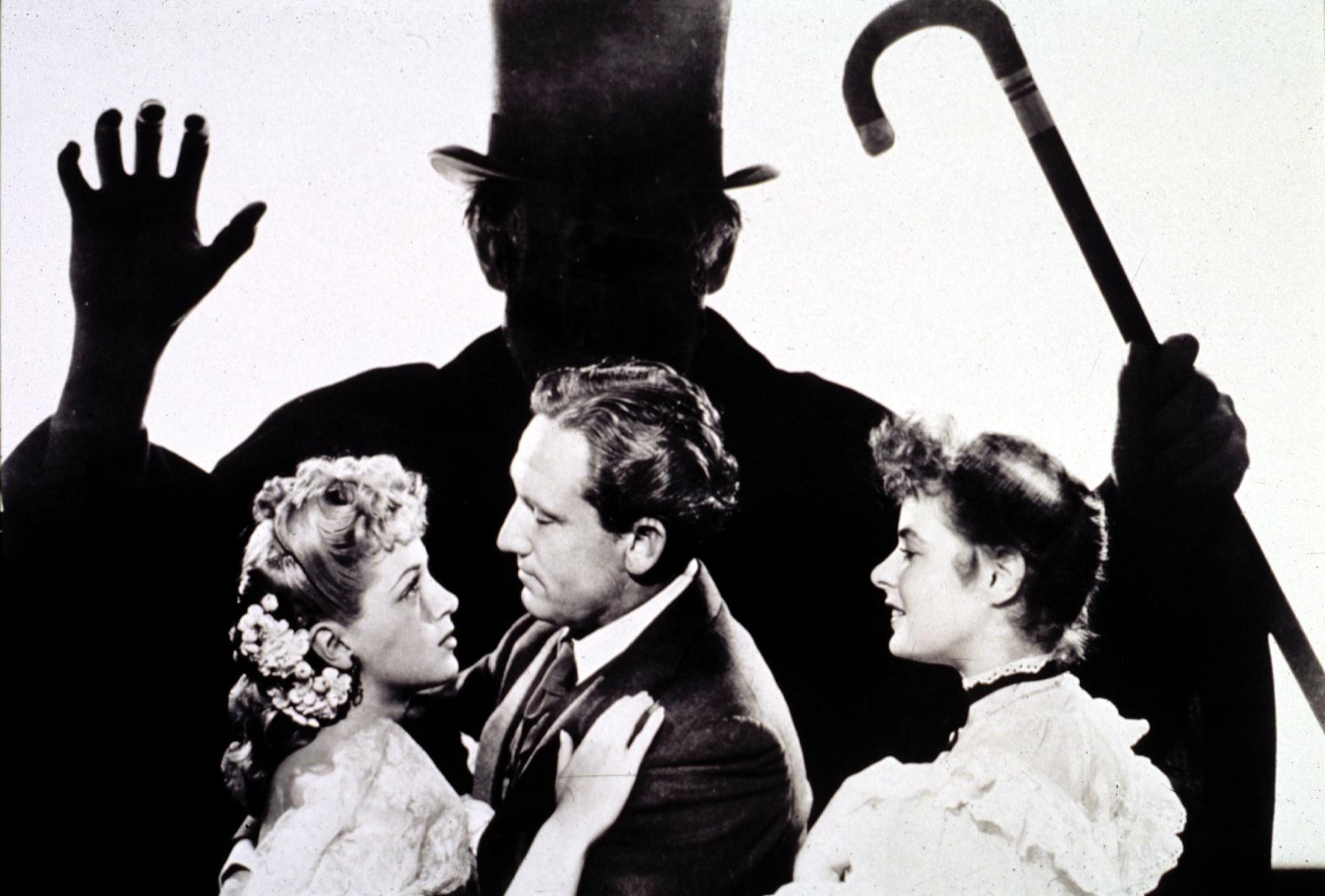 Dr Jekyll and Mr Hyde, 1941, dirigido por Victor Fleming. Com Spencer Tracy, Ingrid Bergman e Lana Turner. Foto de Divulgação