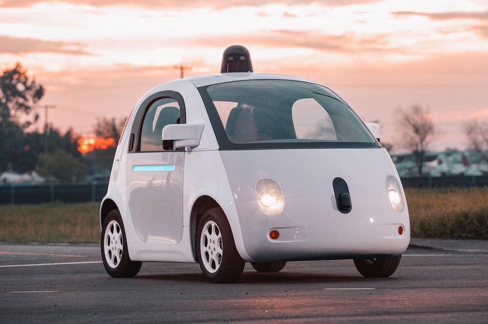 Protótipo do carro autônomo do Google. Foto de Divulgação