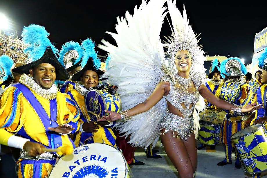Juliana Alves, rainha de bateria da Unidos da Tijuca. Foto de Mauro Samagaio