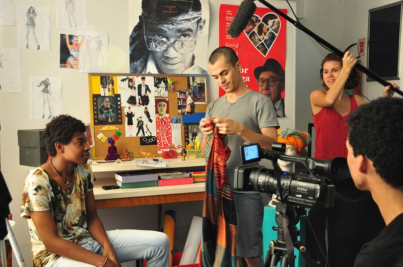 Alunos do Cinema Nosso. Foto de Divulgacao