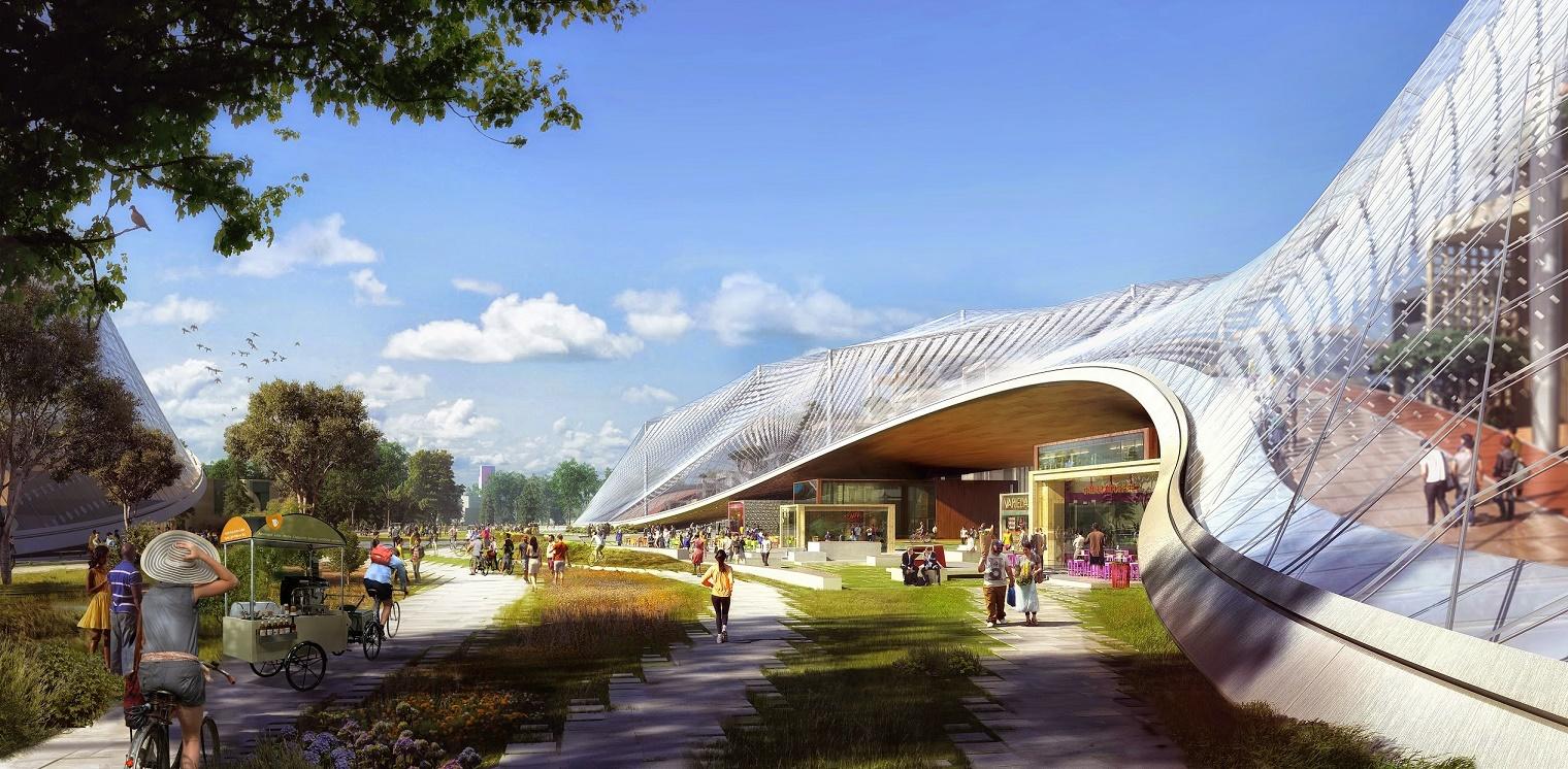 Nova sede do Google, chamada de campus, no Vale do Silício. Foto de divulgação
