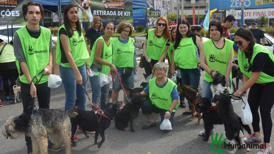 Humanimal participa de Cãominhada com crianças especiais em S. Bernardo de Campo. Foto de Divulgacao