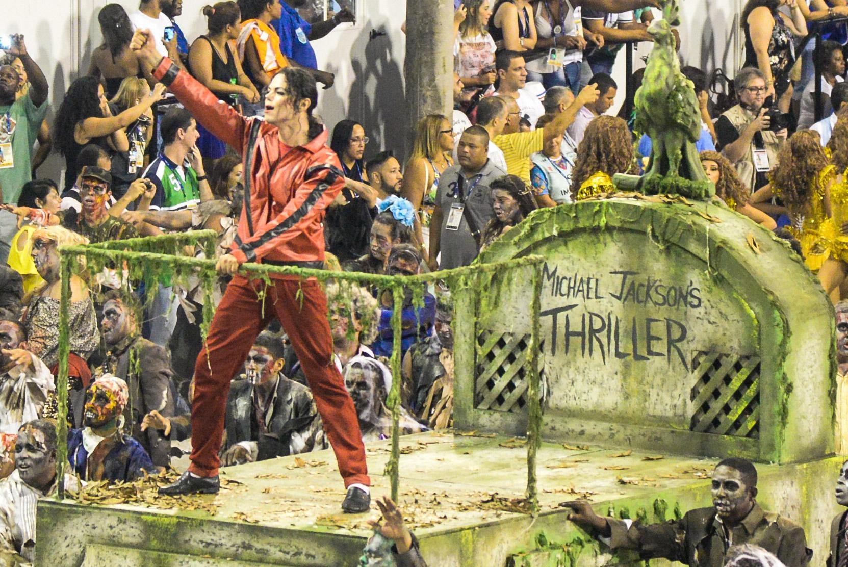 """O """"thriller"""" no desfile da Tijuca foi muito mais assustador do que havia sido planejado. Foto de Clever Felix/Brazil Photo Press"""