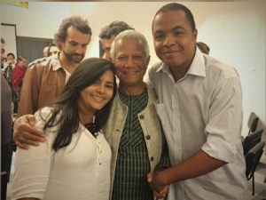 Socios do Saladorama e Yunus. Foto de Divulgacao
