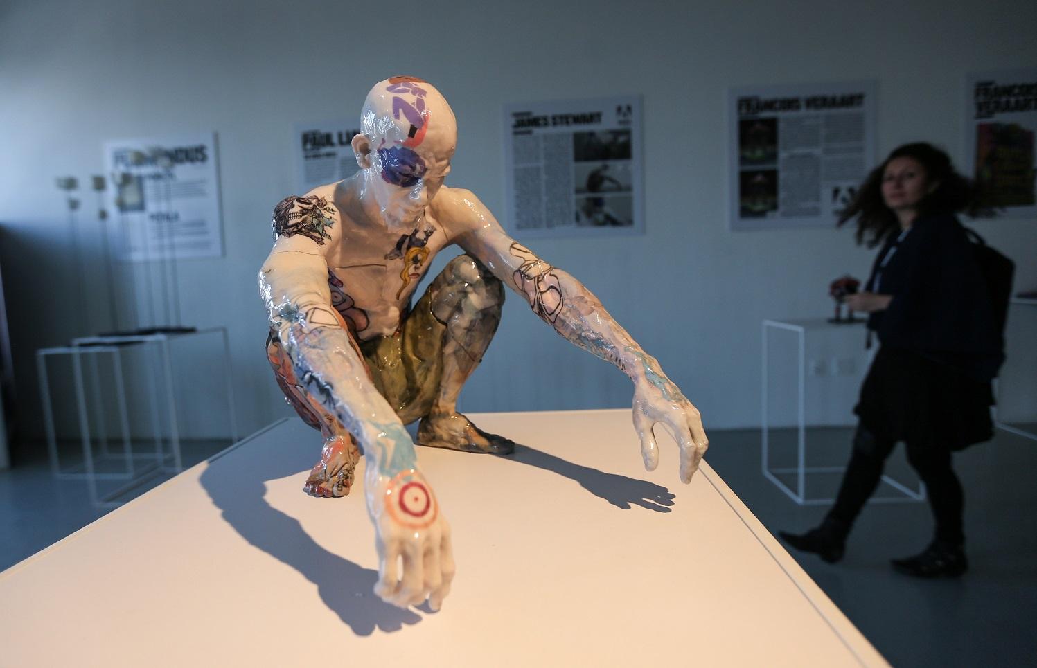 Figura humana, impressa em 3D, numa exposição em Nova York. Foto Cem Ozdel/Anadolu Agency