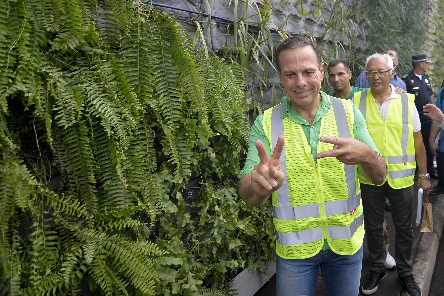 João Doria durante a inauguração do primeiro corredor verde. Foto Levi Bianco/Brazil Photo Press