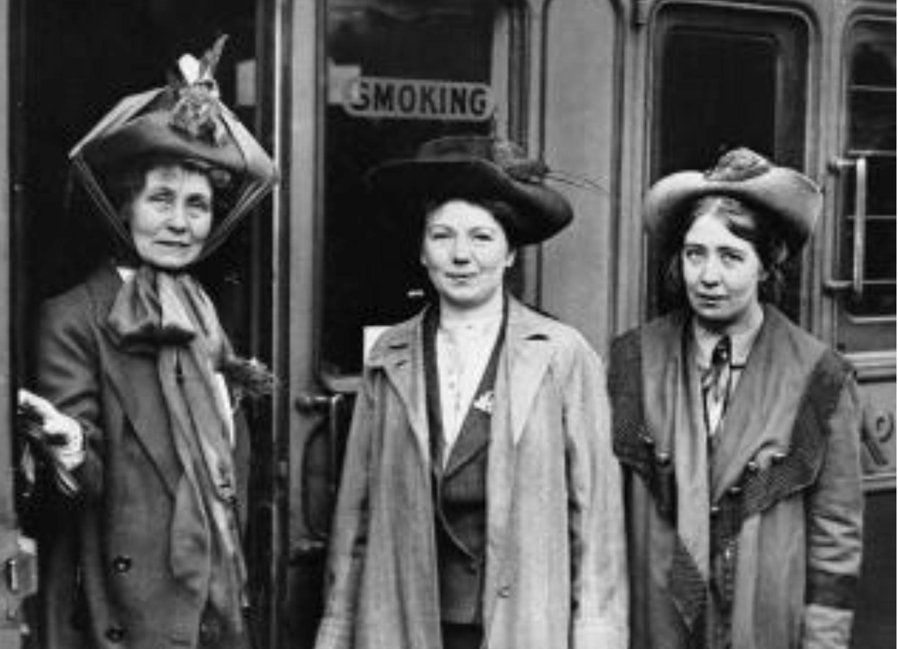 As líderes das sufragistas, que lutaram pelo voto feminino. Algumas se juntaram ao movimento pacifista na Primeira Guerra Mundial. Acervo Imperial War Museum