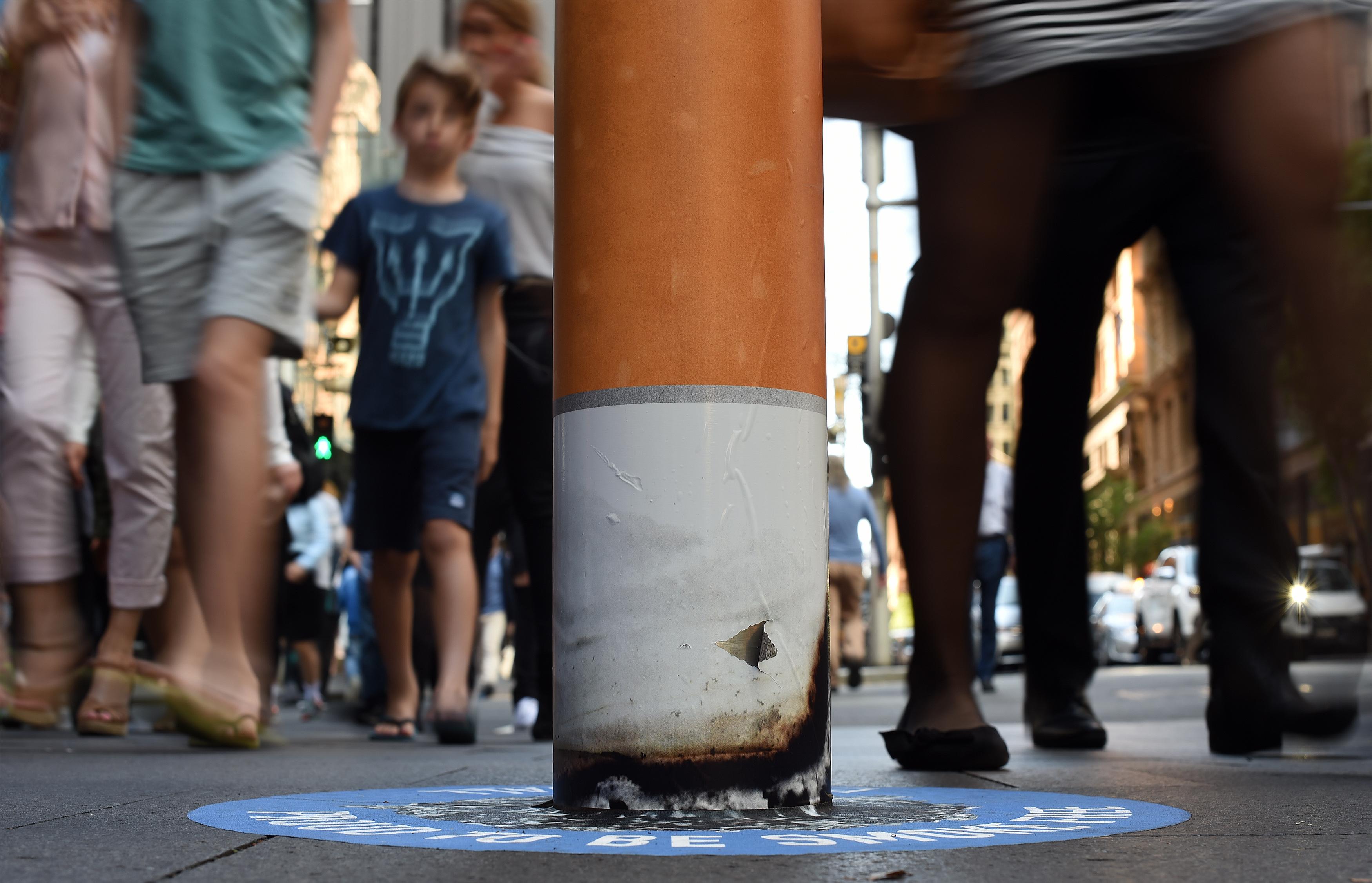 Áreas de fumantes em Sidney. Foto de Saeed Kahn/ AFP