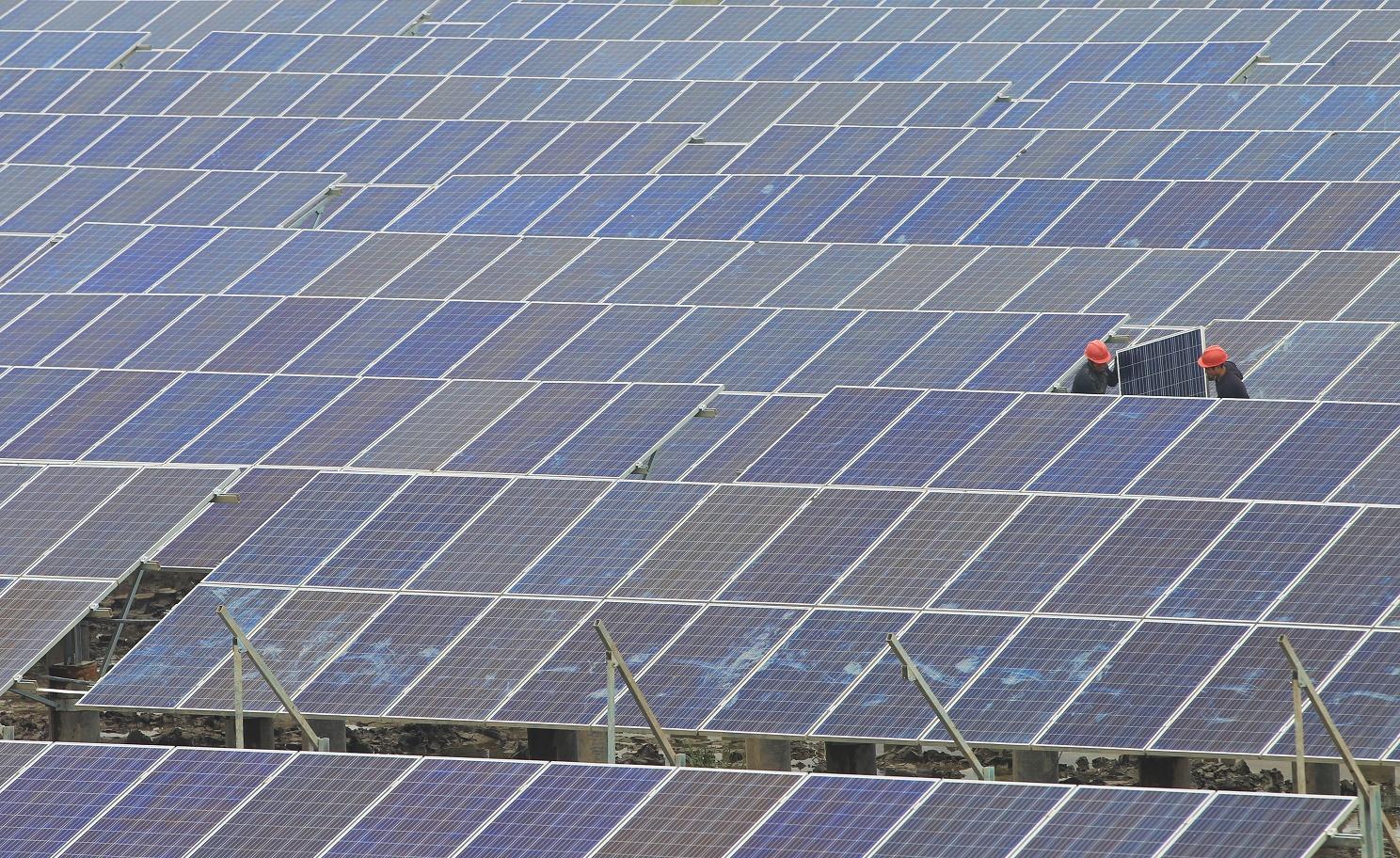 Rifkin aposta que o epicentro de uma revolução mundial é a China, entre razões está o investimento em energia renovável. Foto Chang kong /Imaginechina
