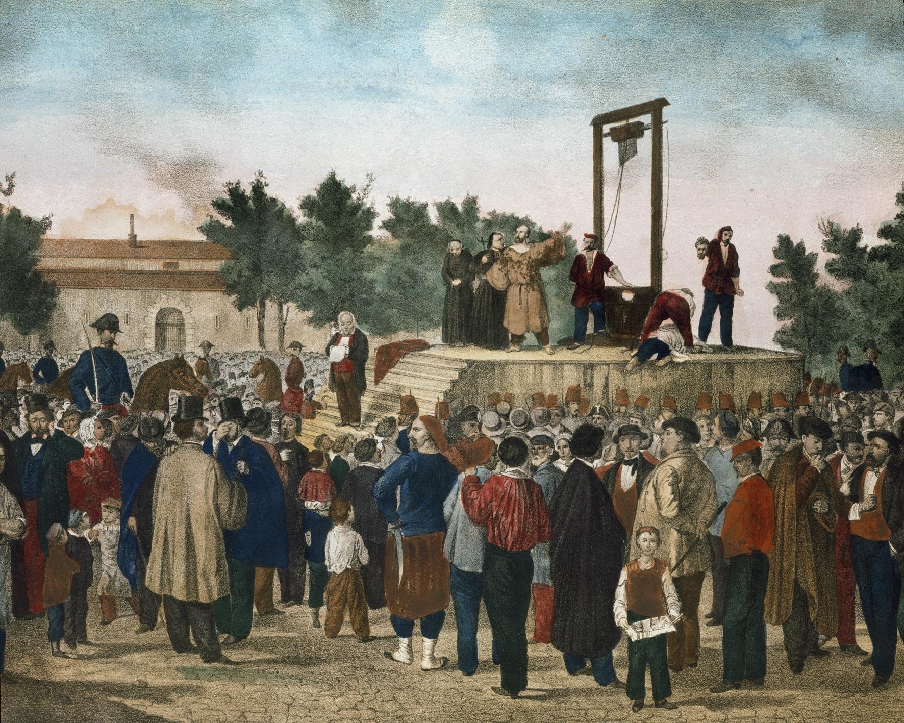 Litografia 'A execução', de Felice Orsini e Pieri/ Reprodução: Luisa Ricciarini/Leemage