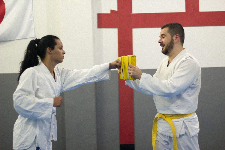 Lana e Halisson treinam no Piranhas Team: krav magá (Divulgação)