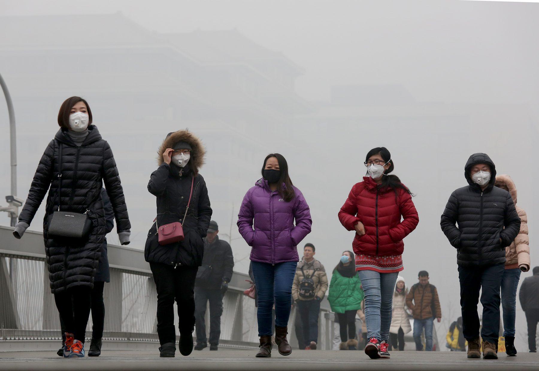 Poluição em Pequim. Foto de Wang Xibao/ Imagine China/ AFP