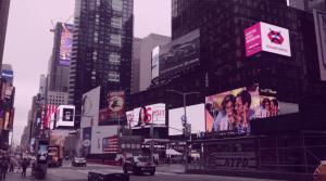 Lancamento do aplicativo Woman Interrupted na Times Square, em Nova Iorque. Foto de Divulgacao