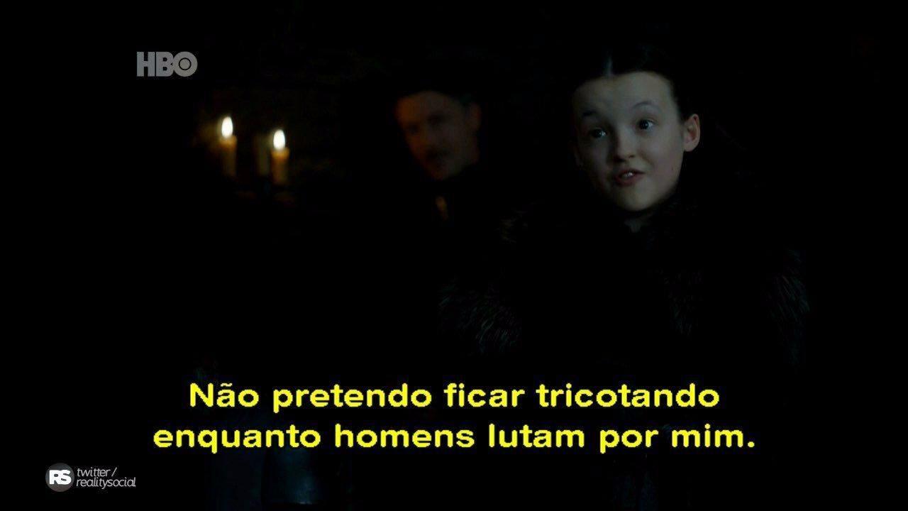 Lyanna Mormont: o Norte lembra e ela é líder entre um monte de barbados (Reprodução/HBO)