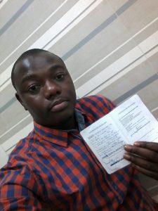 Cedrick, refugiado do Togo. Arquivo pessoal