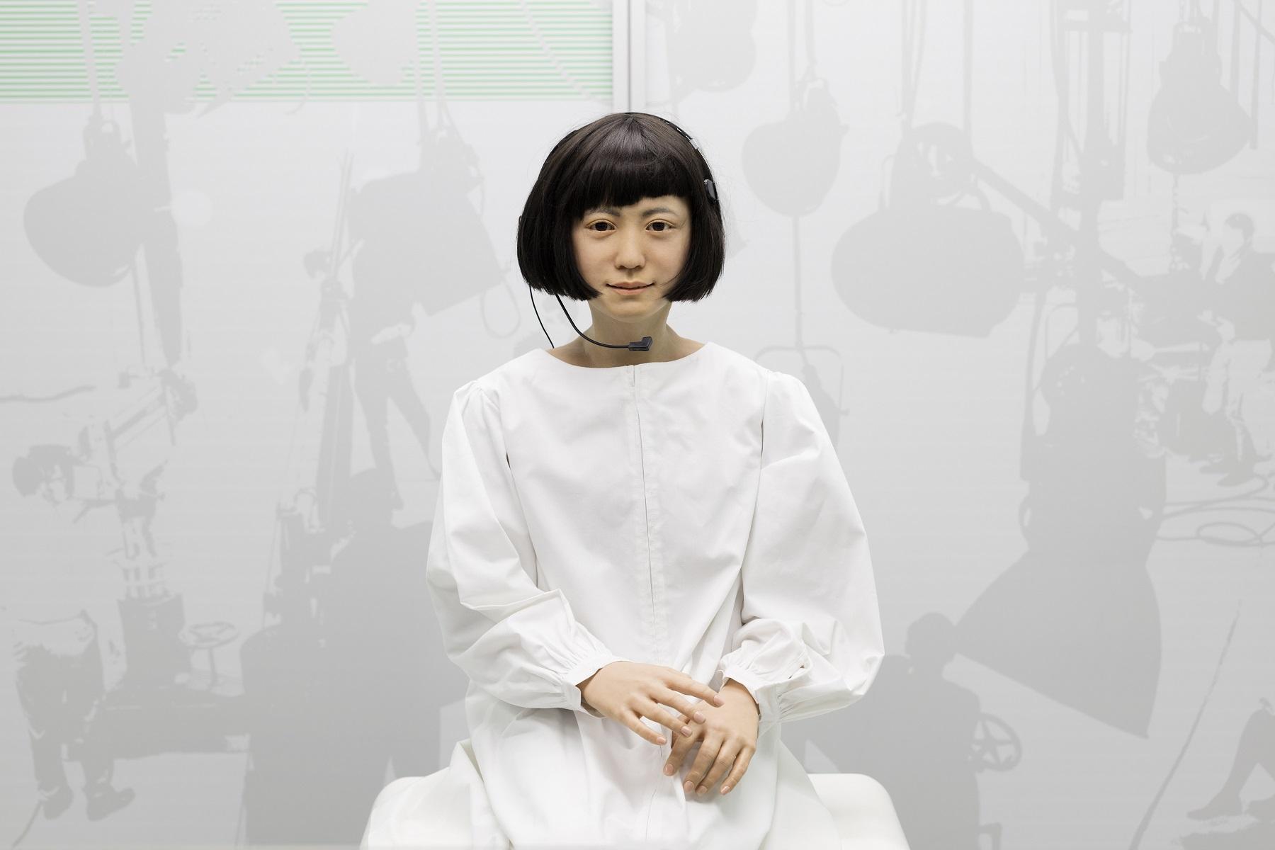 Kodomoroid, a Andróide japonesa que lê notícias. Foto Science Museum