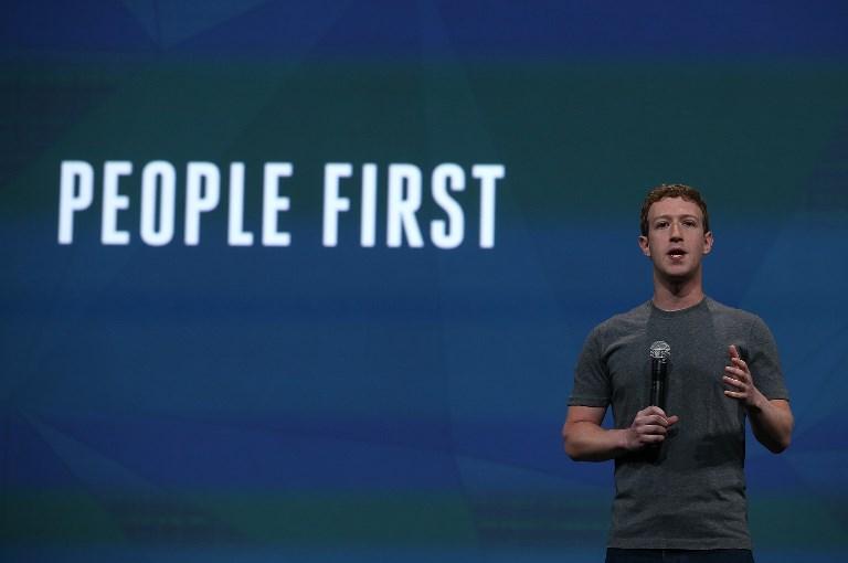 Mark Zuckerberg criticou a visão de Musk em conferência do Facebook. Foto Justin Sullivan/AFP