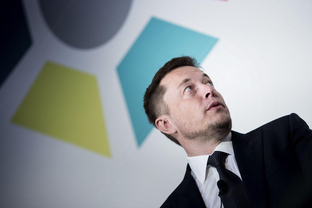 Elon Musk, CEO da Tesla, durante um evento internacional de pesquisa espacial. Foto Brendan Smialowski/AFP