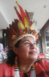 Telma Taurepang, coordenadora geral da Uniao das Mulheres Indígenas da Amazonia Brasileira. Foto de Divulgacao