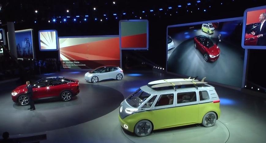 A Volkswagen promete eletrificar toda a sua linha de veículos até 2030, incluindo a Kombi, que volta à vida sem emissões. Foto Divulgação